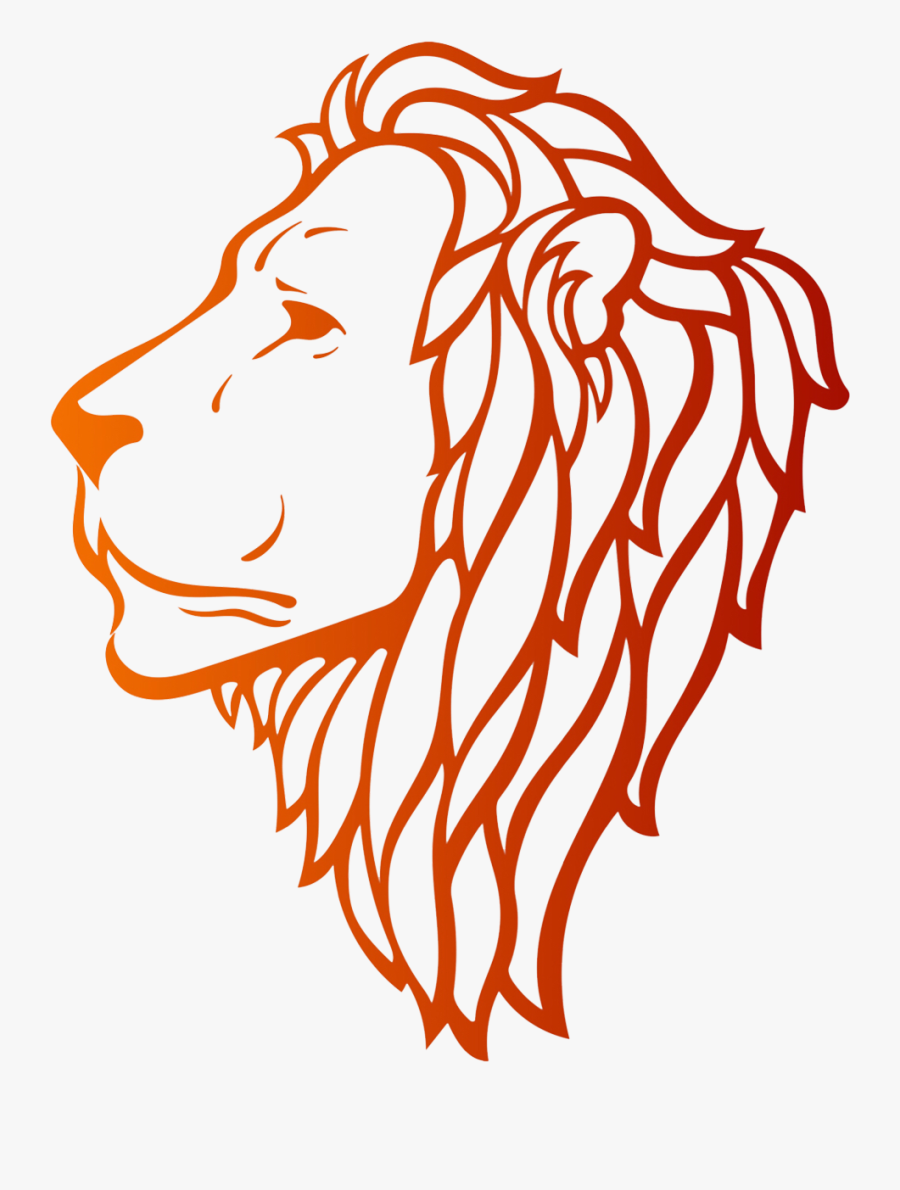 Lion Drawing Side Face - Lion Side Face Drawing, Transparent Clipart