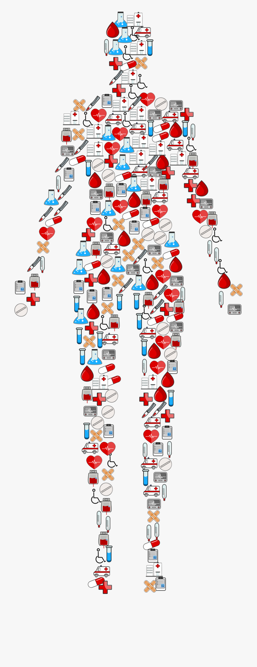Medical Icons Human Body Clip Arts - Human Body Icon Png, Transparent Clipart
