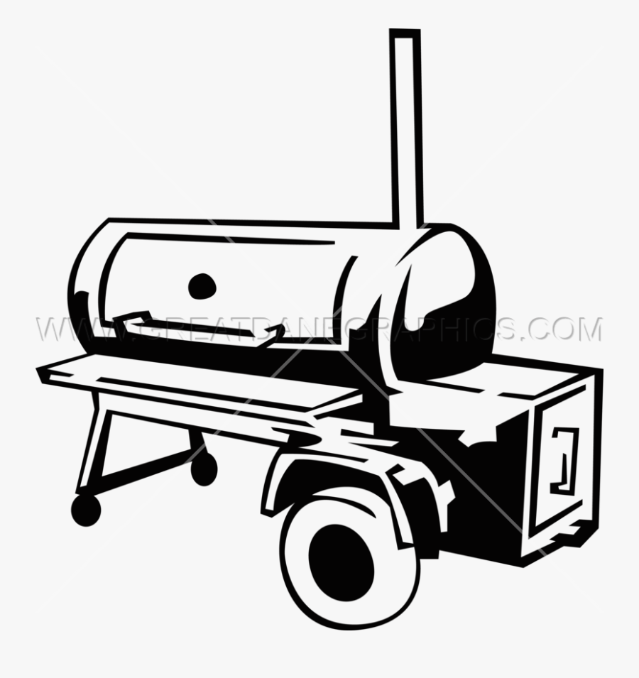 Smoke Frames Illustrations Hd - Bbq Smoker Clipart Black And White, Transparent Clipart