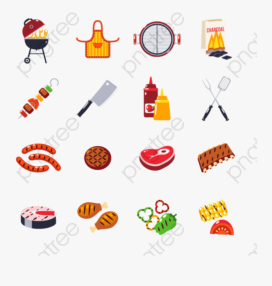 Bbq Grill Creative Collection - Bbq 卡通, Transparent Clipart