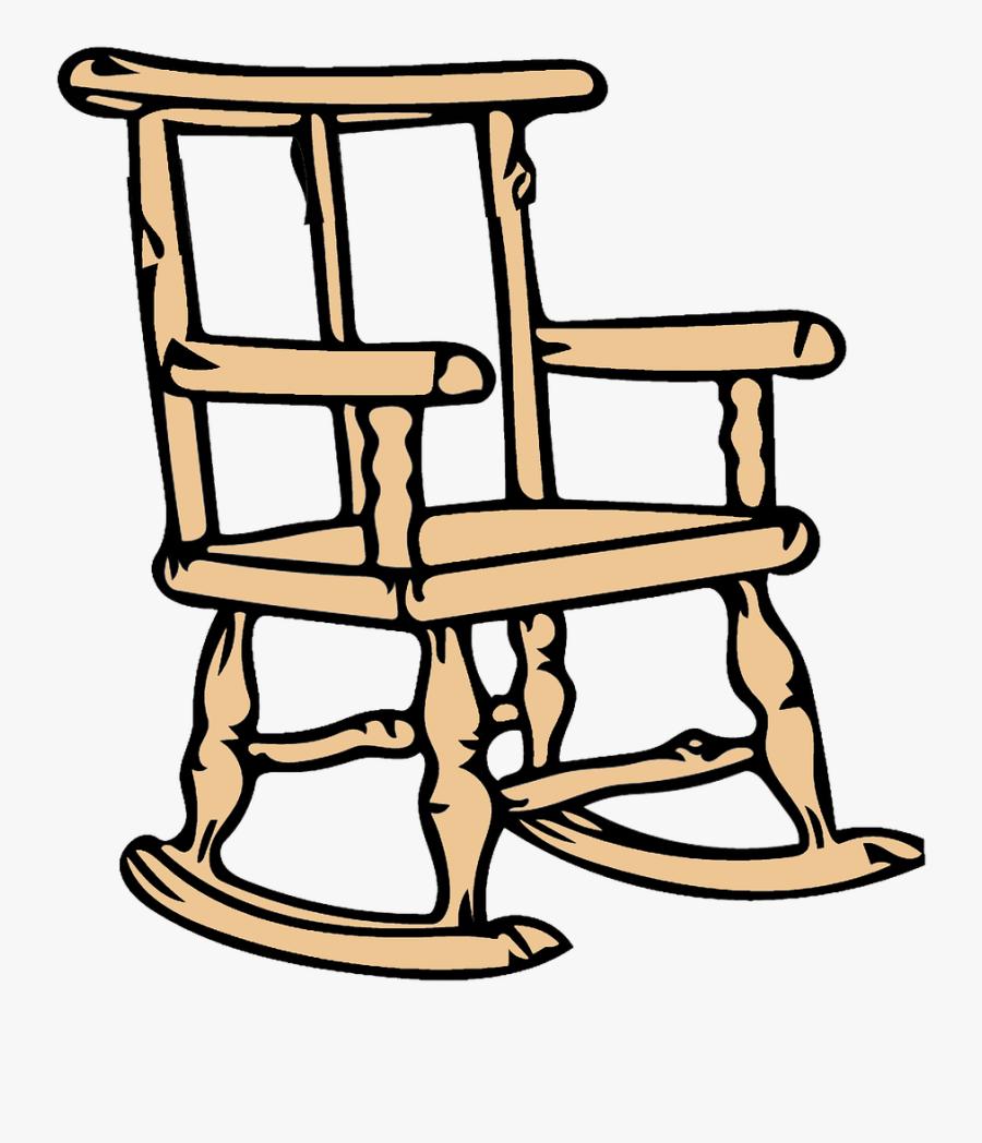 Transparent Chair Clip Art - Clip Art Rocking Chair, Transparent Clipart