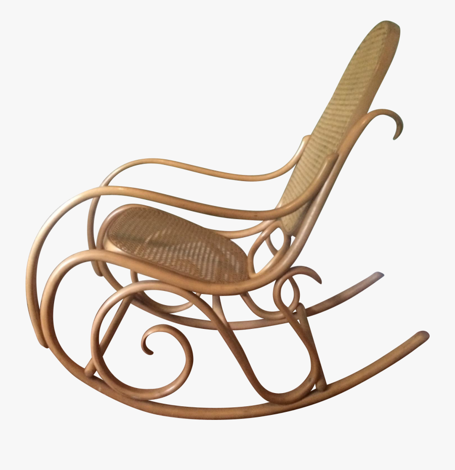 1960s Thonet Bentwood Rocker With Caned Back & Seat - Rocking Chair, Transparent Clipart