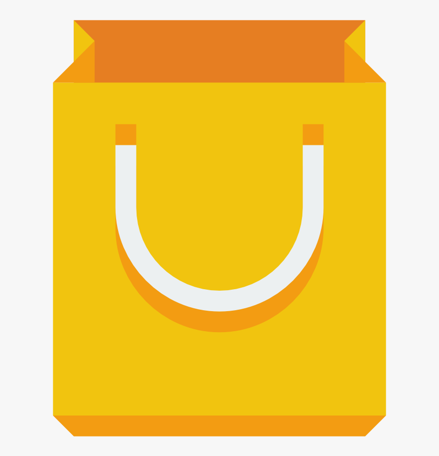Yellow,paper Bag,shopping Art,packaging And Labeling - Shopping Bag Logo Png, Transparent Clipart