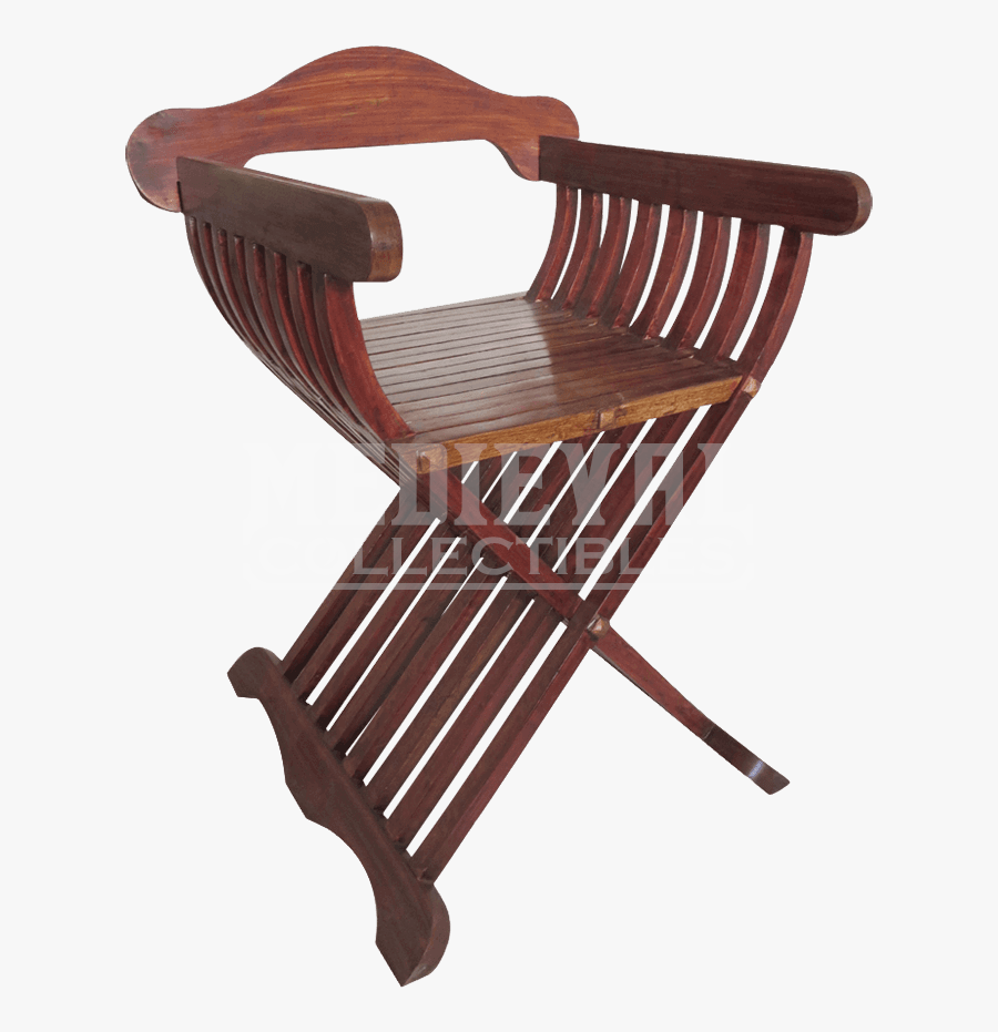 Transparent Rocking Chair Clipart - Medieval Folding Chair, Transparent Clipart
