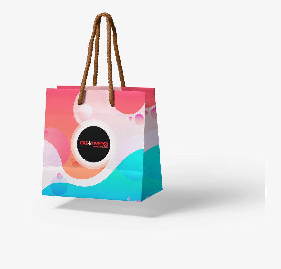 Clip Art Free Shopping Paper Psd - Tote Bag, Transparent Clipart
