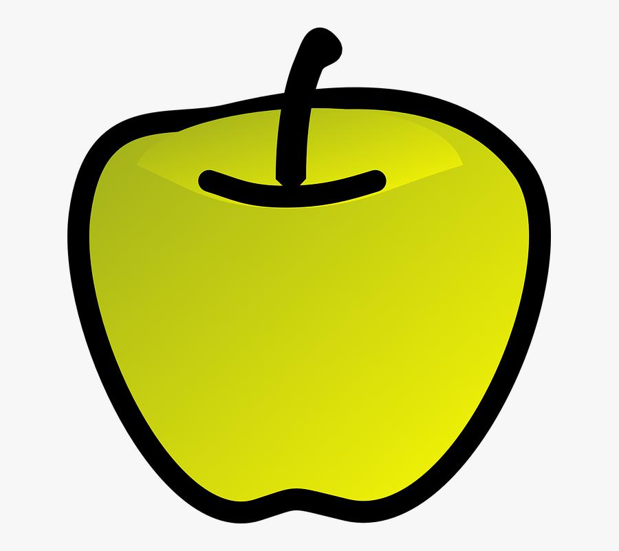 Green Apple 2 Clip Art At Clker - Gambar Buah 3 Dimensi, Transparent Clipart