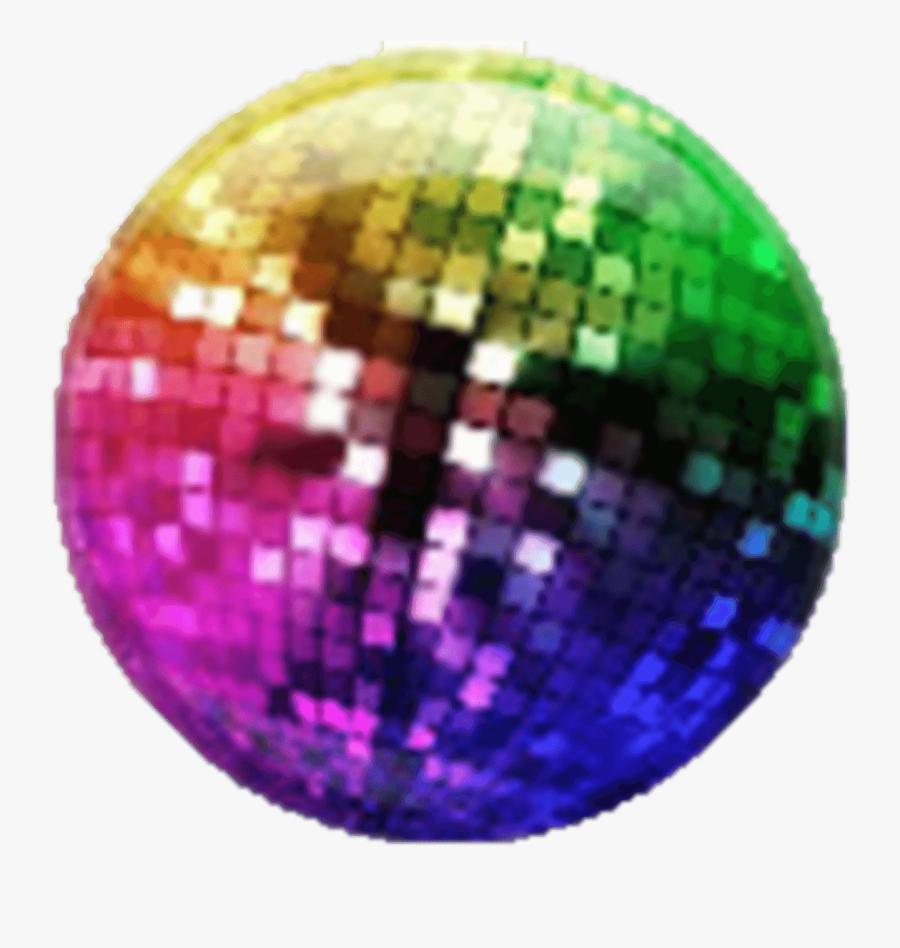 Clip Art Colorful Disco Lights - Multi Coloured Disco Ball, Transparent Clipart