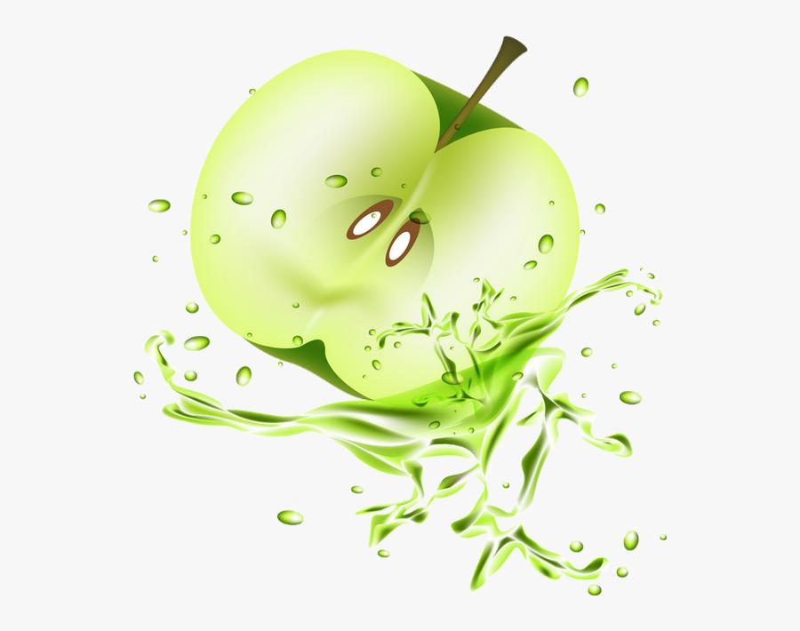 Pomme Verte Png, Tube Fruit, Splash - Green Clipart Apple Fruit, Transparent Clipart