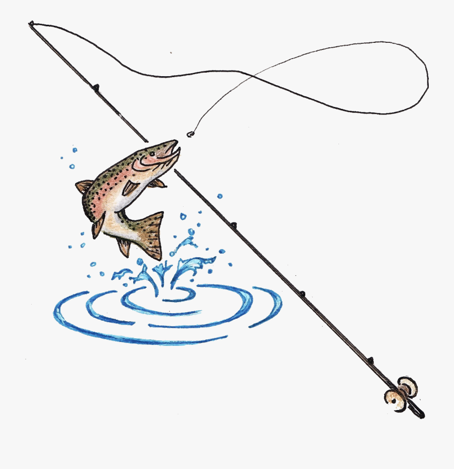 Fish Clipart Fishing Hook - Fishing Rod And Fish, Transparent Clipart