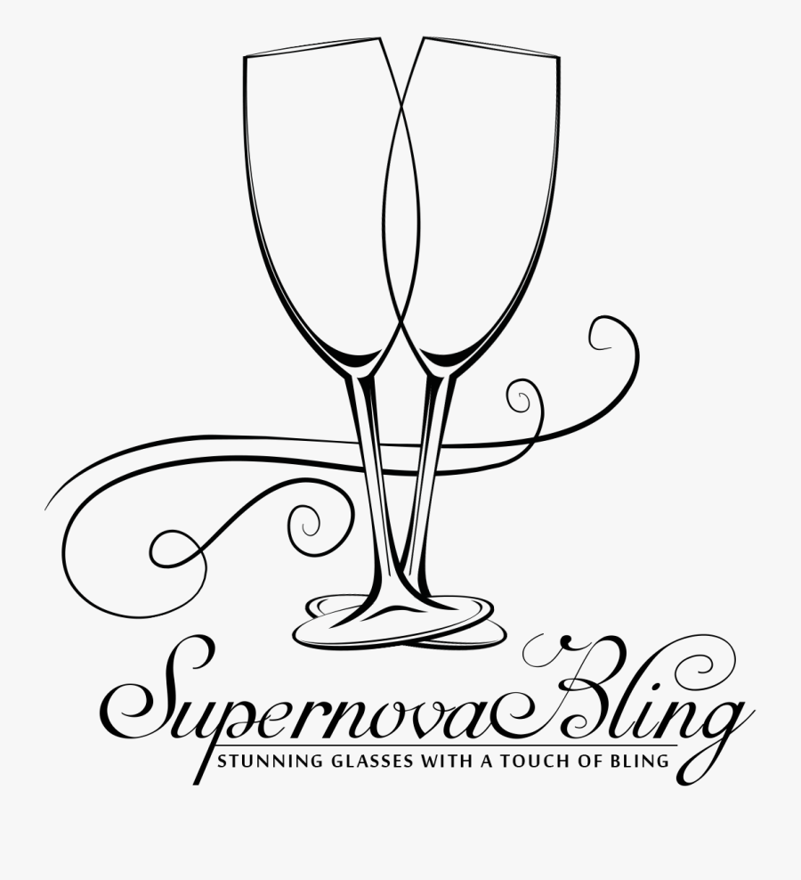 Clipart Wedding Champagne Glass - Champagne Glass Drawing, Transparent Clipart