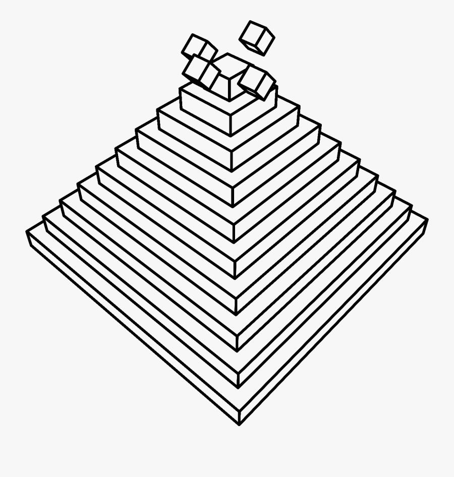 Multiple 3d Cubes Rolling Down A Pyramid [animation] - Line Art, Transparent Clipart