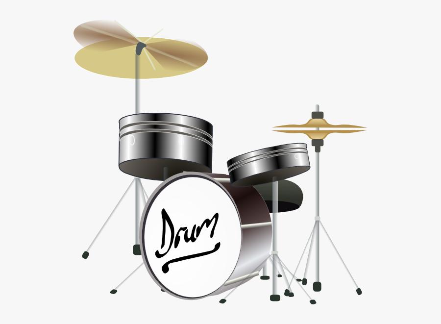 Animated Drum Set, Transparent Clipart