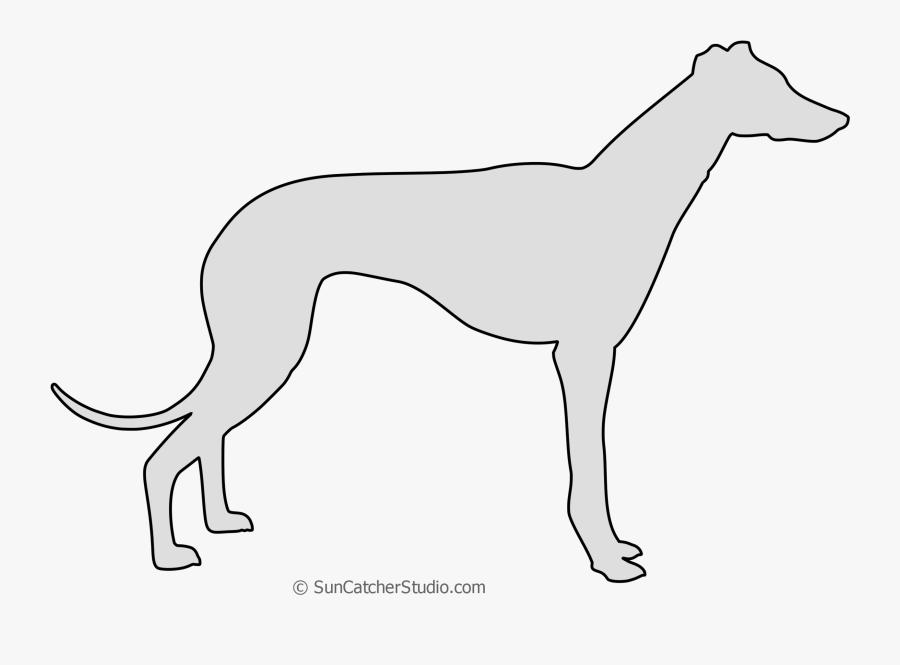 Greyhound Vector Stencil Rampur Greyhound - Rampur Greyhound, Transparent Clipart