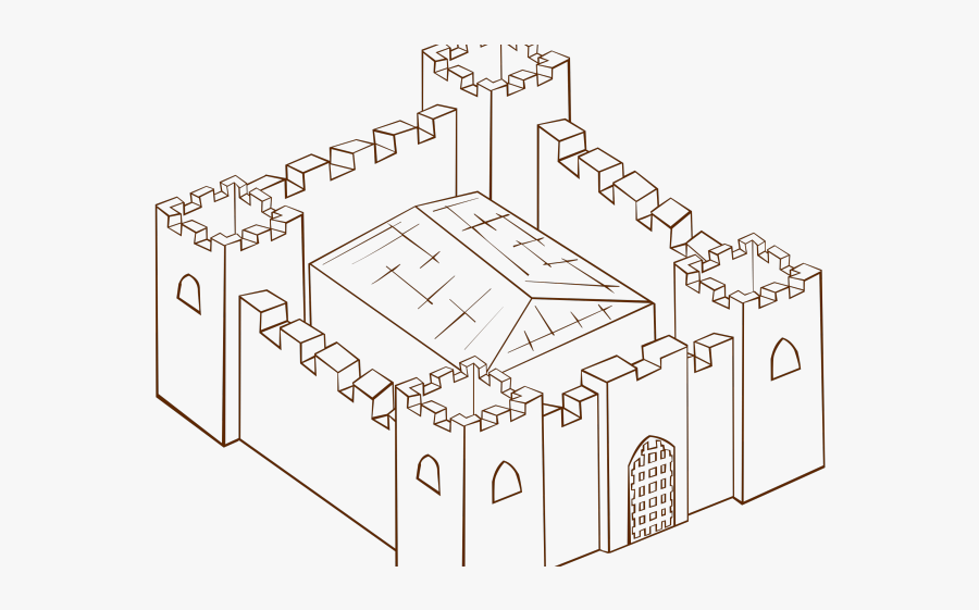 Fortress Drawing, Transparent Clipart