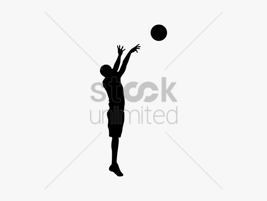 Girl Basketball Player Silhouette At Getdrawings - Person Shooting A Basketball, Transparent Clipart