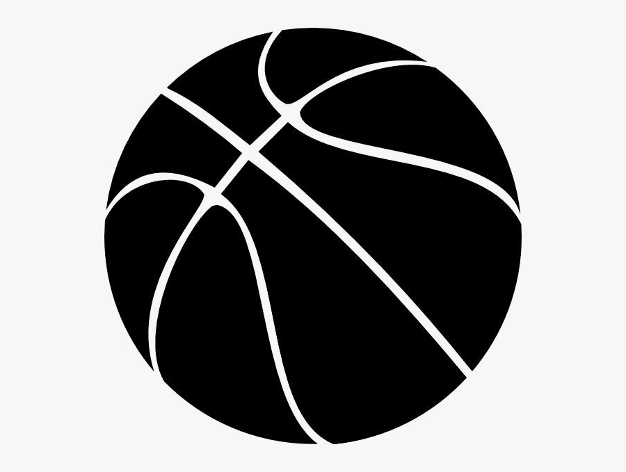 Basketball Free Clip Art Black And White Clipart Transparent - Black Basketball Clipart, Transparent Clipart