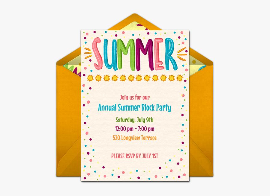 Clip Art Pool Party Invitations Templates Free - Fête De La Musique, Transparent Clipart