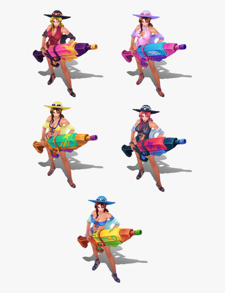 Pool Party Caitlyn Chroma Skins, Transparent Clipart