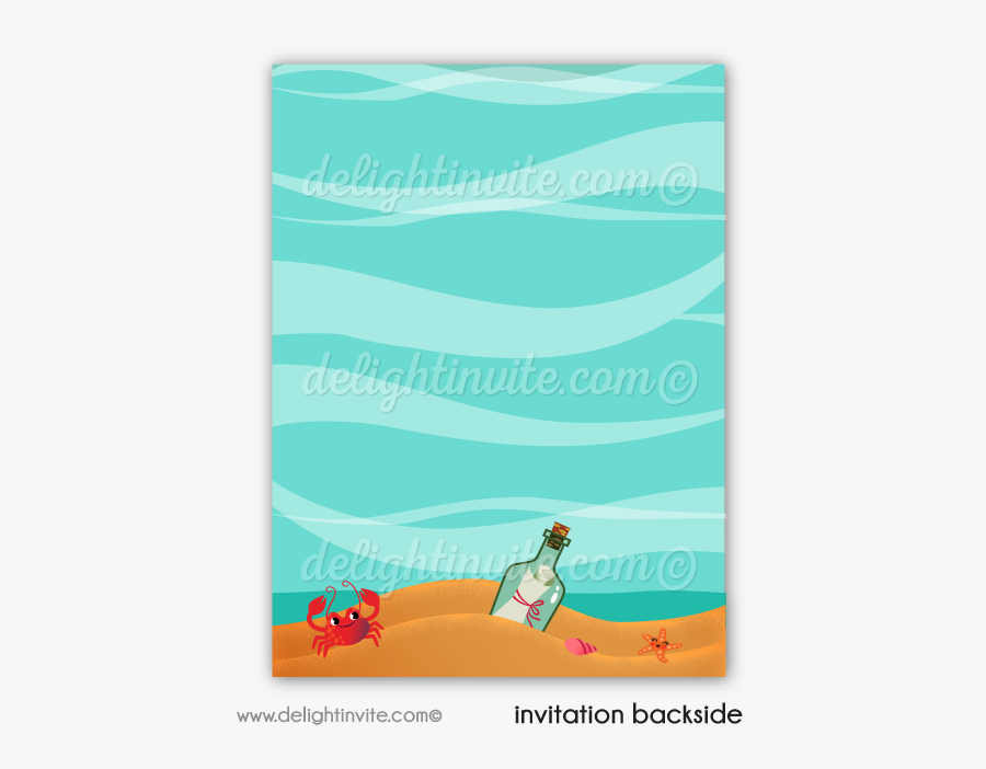 Swimming Party Invitations - Illustration, Transparent Clipart