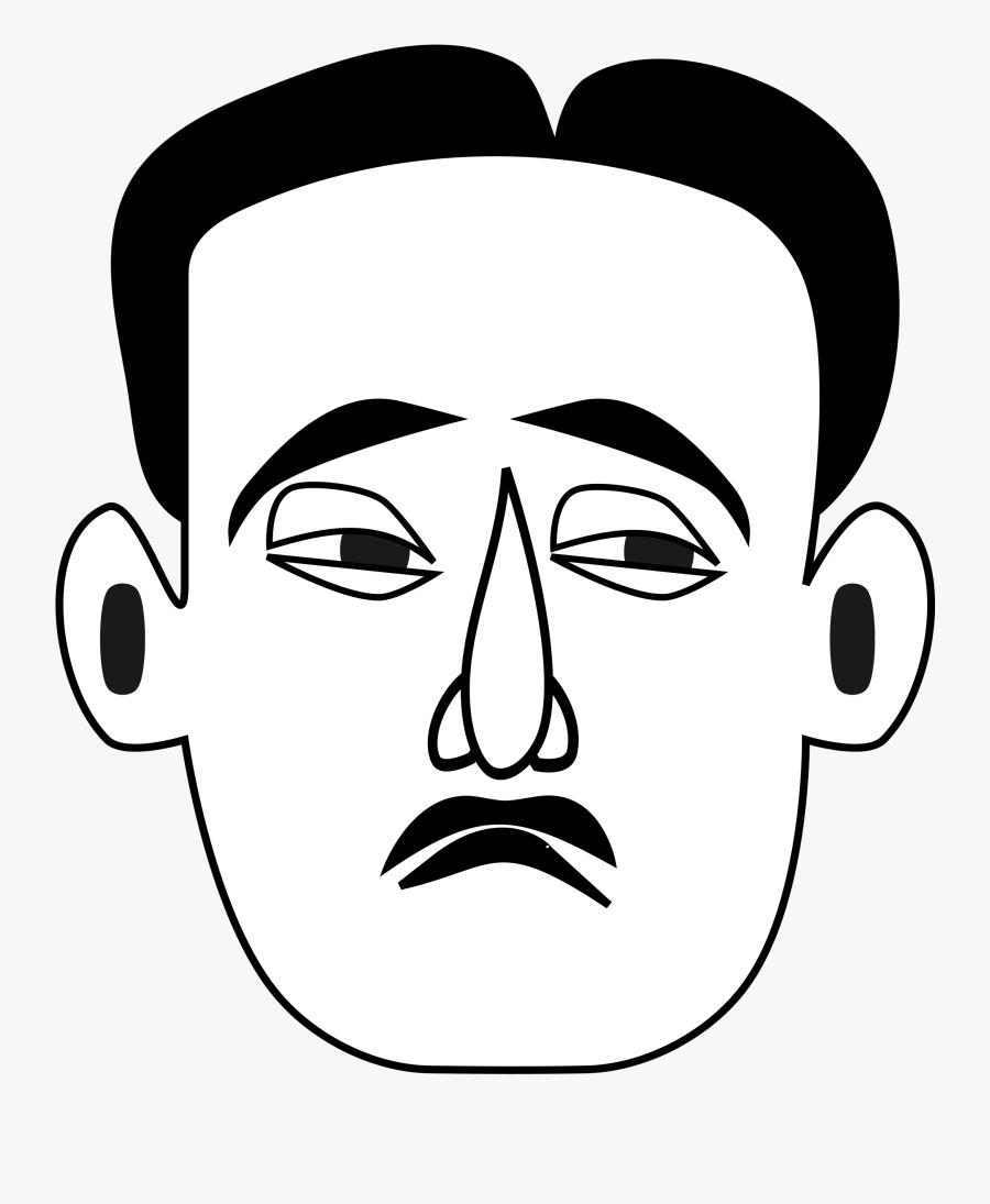 Clipart - Sad Man Face Clipart, Transparent Clipart