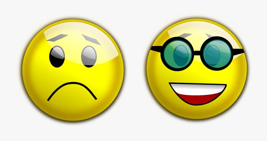 Happy And Sad Face 7, Buy Clip Art - Sad To Happy Face, Transparent Clipart
