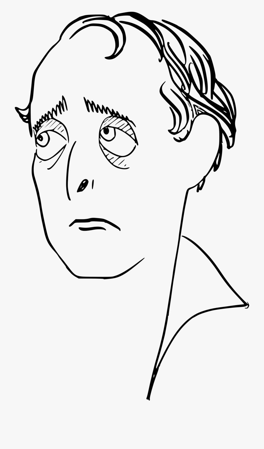 """Sad Man""""s Face Clip Arts - Sad Man Face Drawing, Transparent Clipart"""