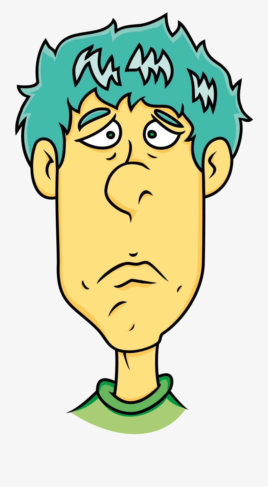 Face Of Sad Man - Cartoon Clipart Sad Man, Transparent Clipart
