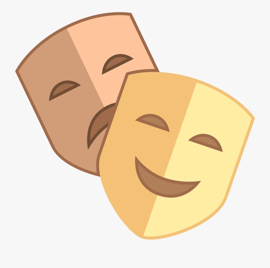 Theatre Clipart Happy Sad Face - Sad Face Happy Face Theatre, Transparent Clipart