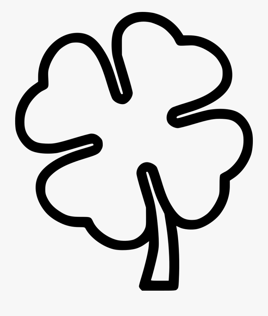 Black And White Four Leaf Clover Black And White Clipart ...