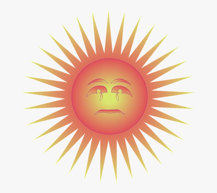Sun, Sad, Face, Frond, Gold, Label, Shining, Image - Flash Star Animated Gif, Transparent Clipart