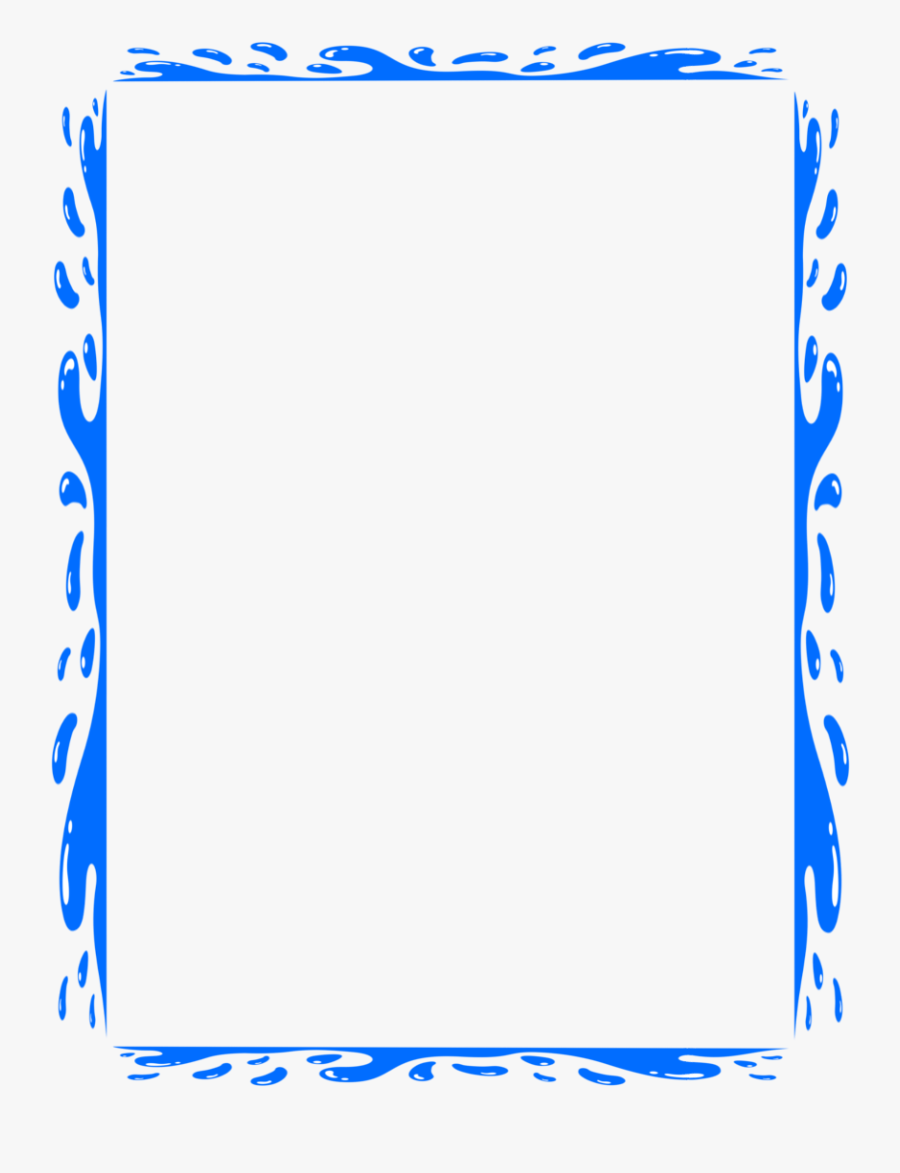 Page Borders For Microsoft Word Cliparts - Water Border Clipart, Transparent Clipart