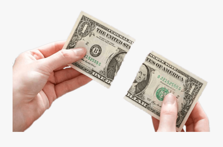 Dollar Bill Ripped In Two Clip Arts - Dollar Bill Currency Transparent, Transparent Clipart