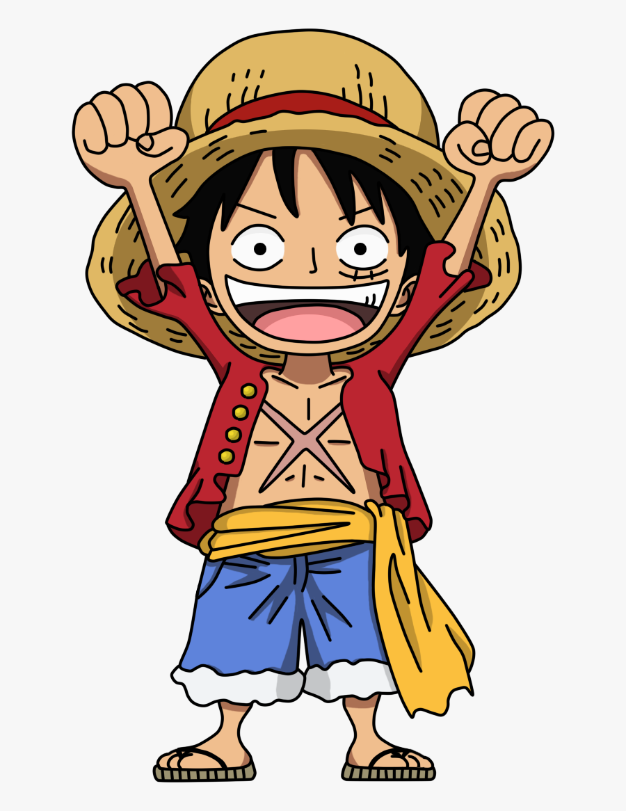 One Piece Luffy Chibi Png, Transparent Clipart