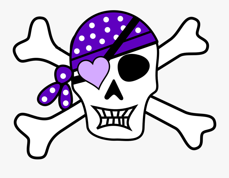 Skull Clipart At Getdrawings - Pirate Skull Drawing Easy, Transparent Clipart