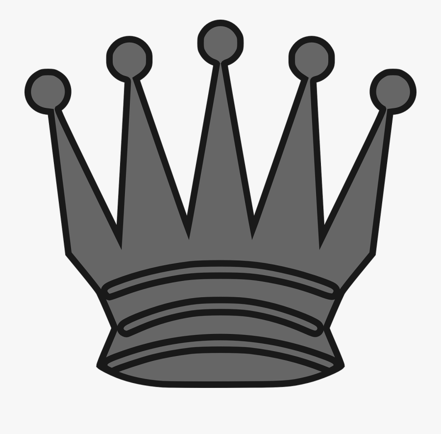 Queen Crown Black Chess, Transparent Clipart