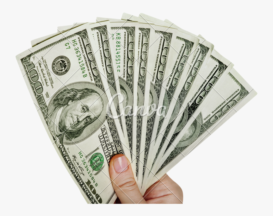 Clip Art Hand Holding Money - Money Giveaway, Transparent Clipart