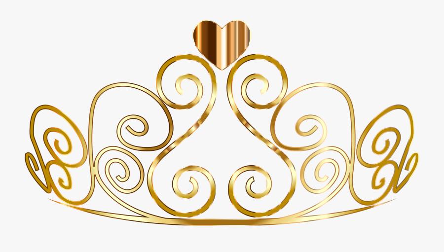 Princess Clipartxtras Golden Tiara - Gold Princess Crown Png, Transparent Clipart