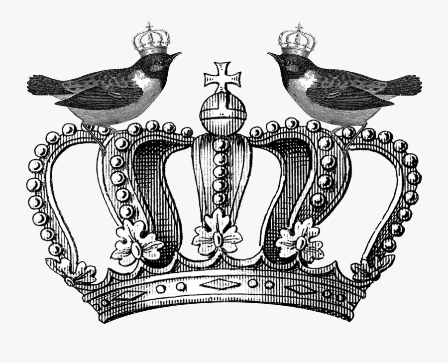 Clip Art Royal Tattoo Photo - Royal Crown Clipart Black And White, Transparent Clipart