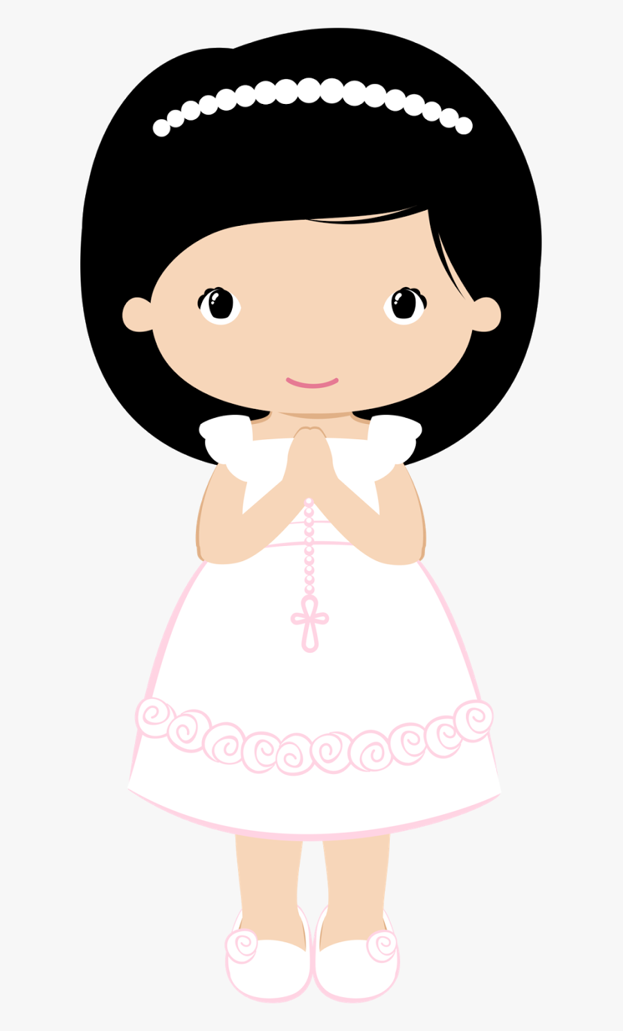 Transparent Caliz Png - First Communion Clipart Girl, Transparent Clipart