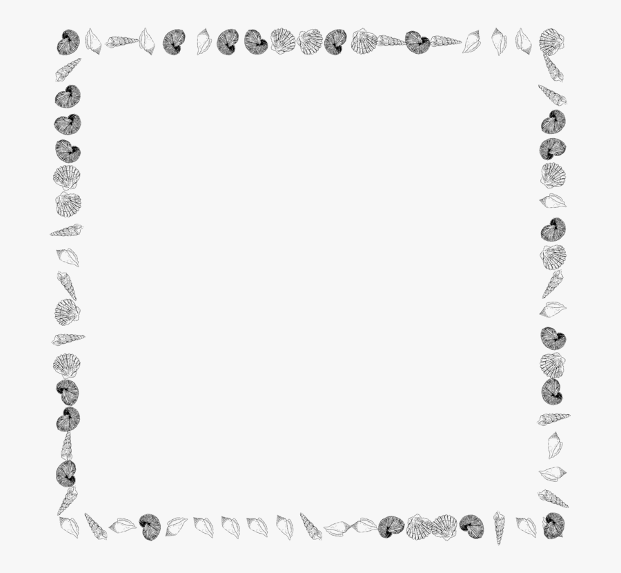 Picture Frame,line Art,area - Sea Borders Clipart Black And White, Transparent Clipart