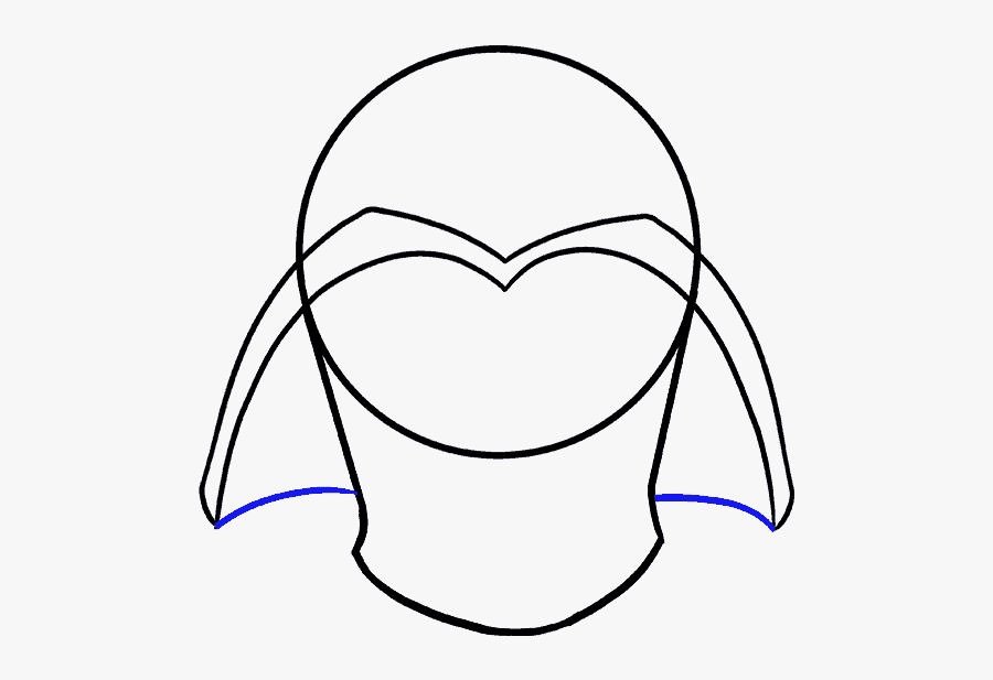 How To Draw Darth Vader In A Few Easy Steps Easy Drawing - Draw Darth Vader, Transparent Clipart