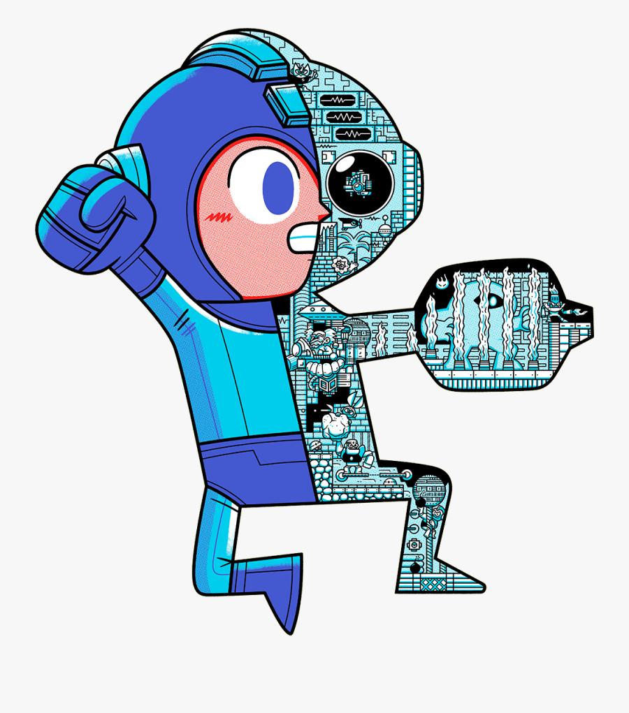 Megaman Geek Art, Transparent Clipart
