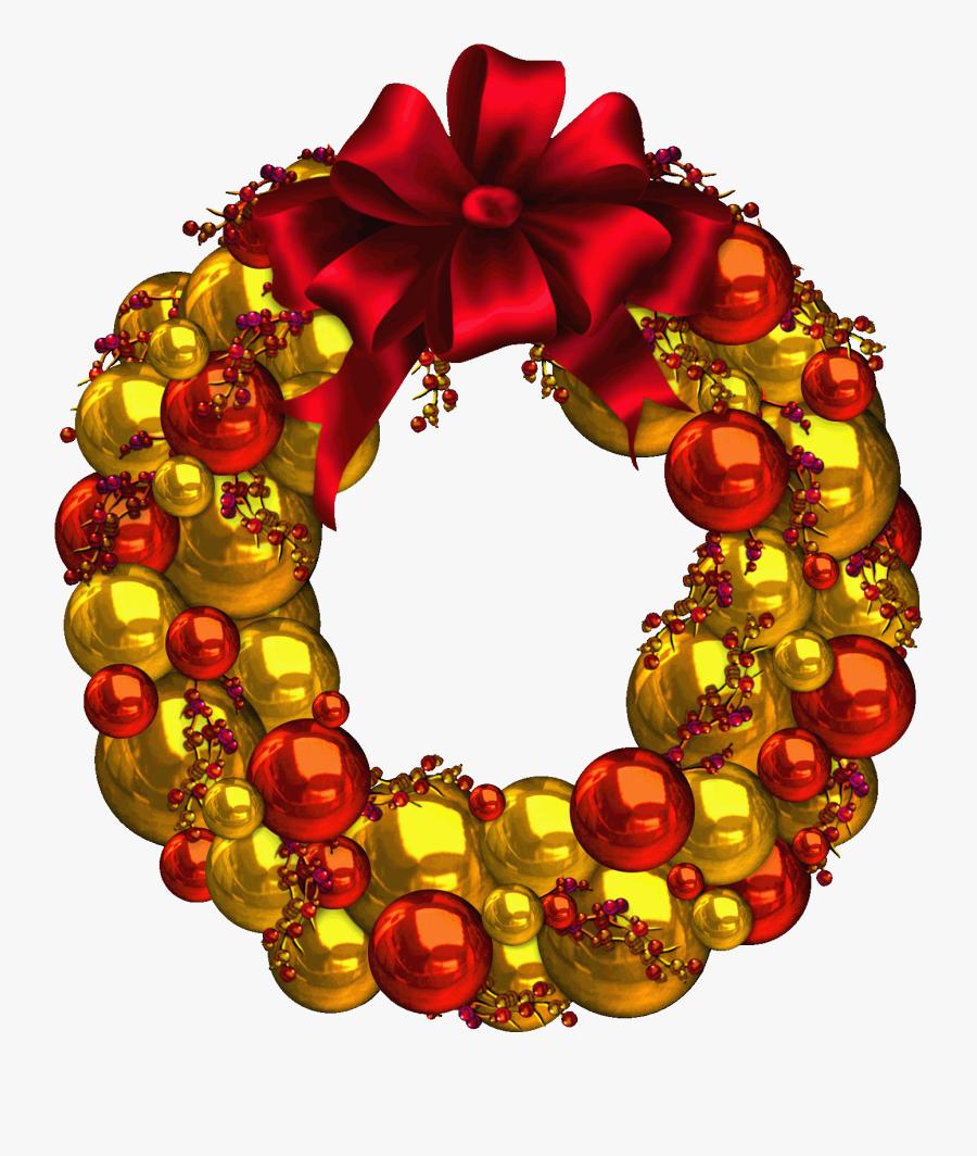 Clipart Ocean Wreath - Новогодние Шары Красные На Прозрачном Фоне, Transparent Clipart