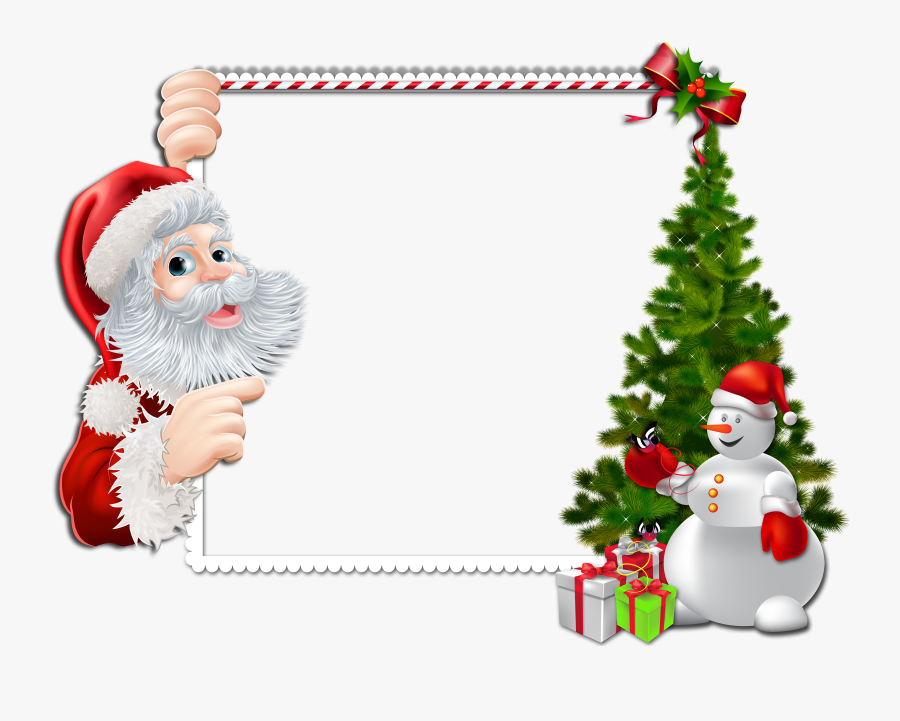 Merry Christmas Frame Png, Transparent Clipart