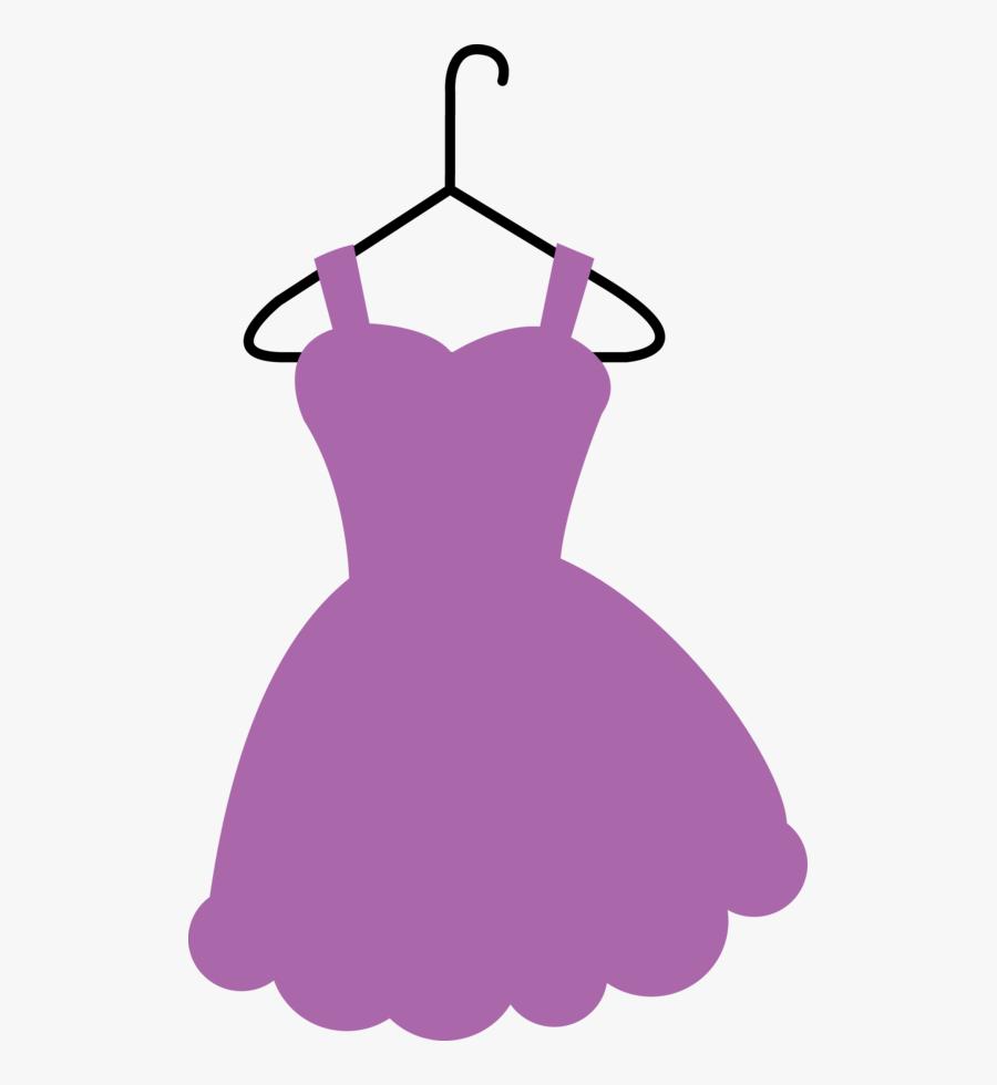 Clothes Clipart Purple Dress - Clothes On Hangers Clipart, Transparent Clipart