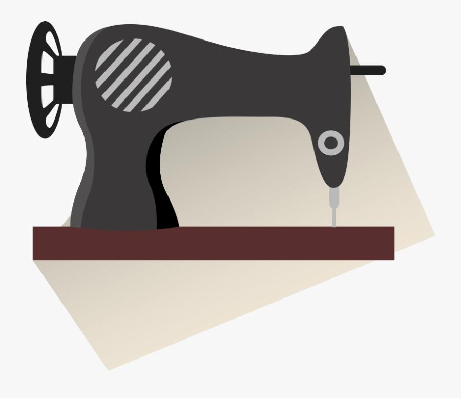 Sewing Machine Clip Art - Máquina De Coser Blanco Y Negro, Transparent Clipart