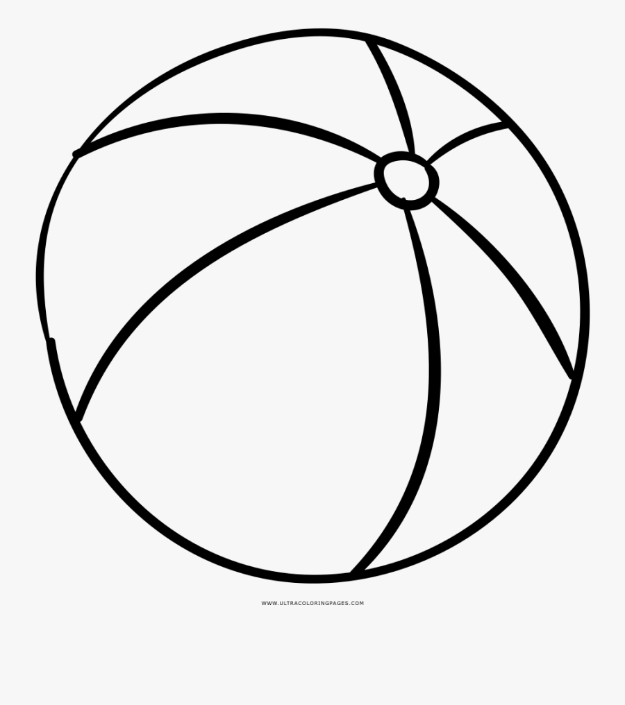 Beach Ball Coloring Page - Transparent Beach Ball To Color ...