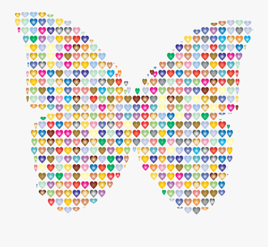 Butterfly Computer Icons Heart Watercolor Painting - Butterfly Clip Art Colorful, Transparent Clipart
