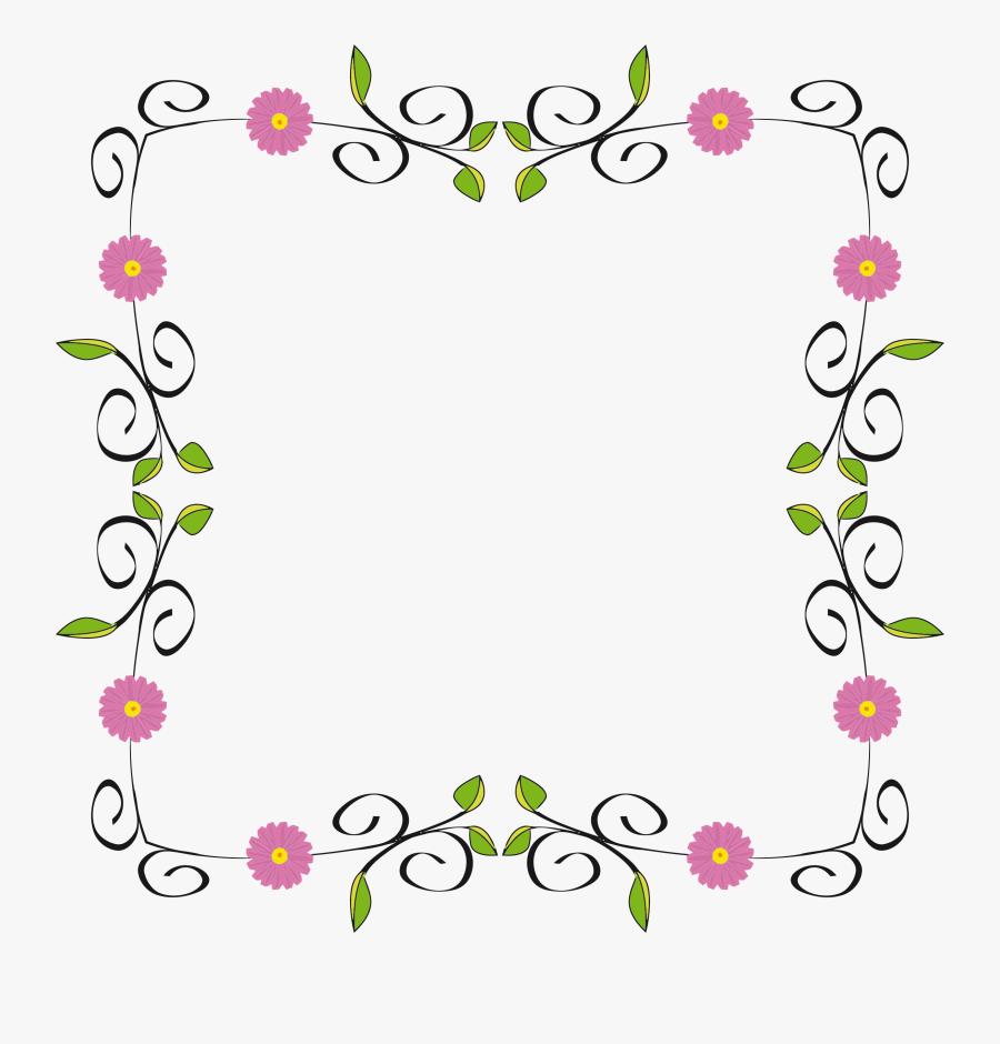 Floral Border Clipart - Clip Art Border Flowers, Transparent Clipart