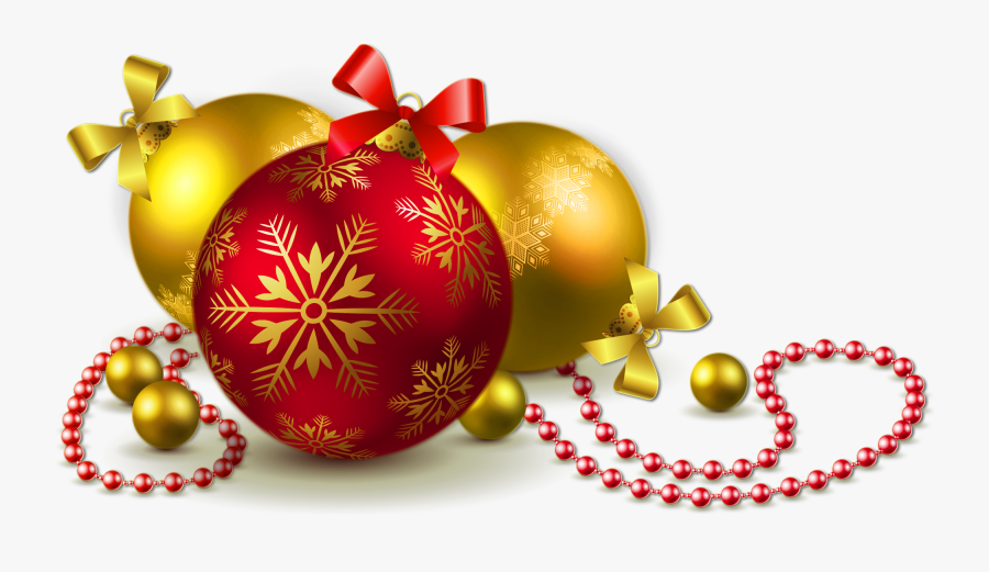 Golden Christmas Balls Transparent Png, Transparent Clipart